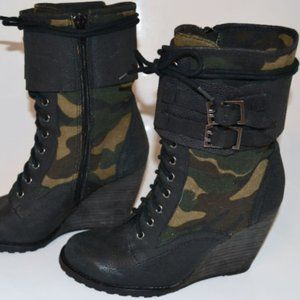 Aldo Military Wedge Ankle Boots